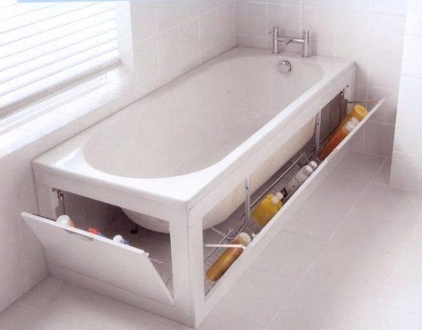 Rangements pour baignoire pratiques des id es Salle de bain baignoire rose