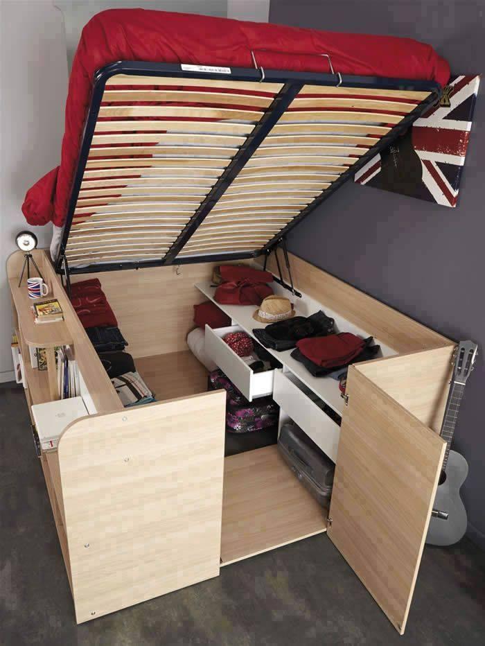 Bureau Et Lit 2 En 1 Pour Petite Chambre - Des Idées
