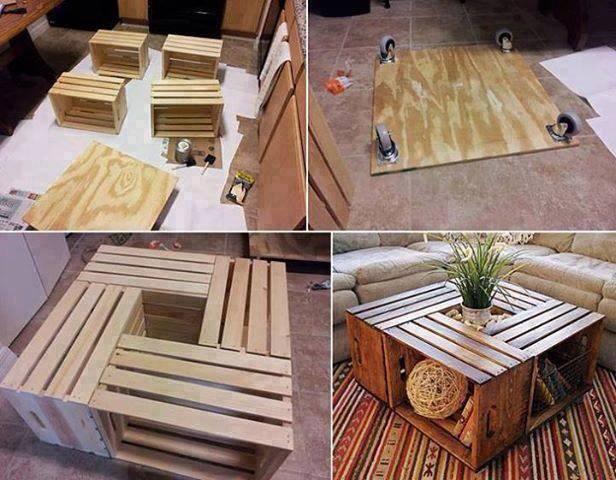 Fabriquer Une Table Basse Avec Des Caisses En Bois - Des Idées
