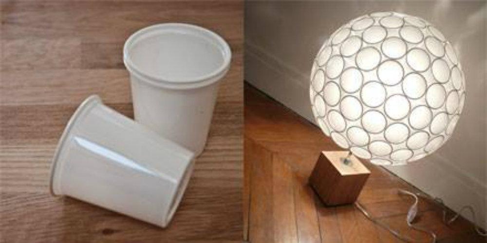 fabriquer une lampe originale avec des gobelets des id es. Black Bedroom Furniture Sets. Home Design Ideas