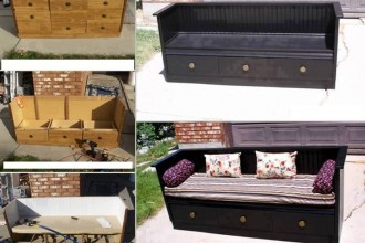 transformer une commode en canap des id es. Black Bedroom Furniture Sets. Home Design Ideas