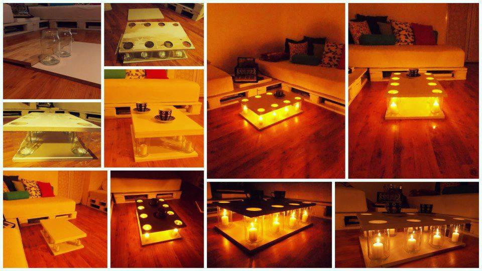 fabriquer une table basse lumineuse des id es. Black Bedroom Furniture Sets. Home Design Ideas