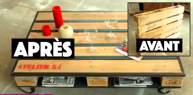 Tuto comment fabriquer une table basse avec une palette for Fabriquer une table basse