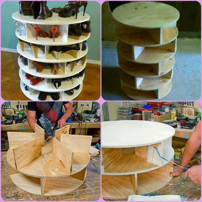 fabriquer une tour de rangement pour vos chaussures des id es. Black Bedroom Furniture Sets. Home Design Ideas
