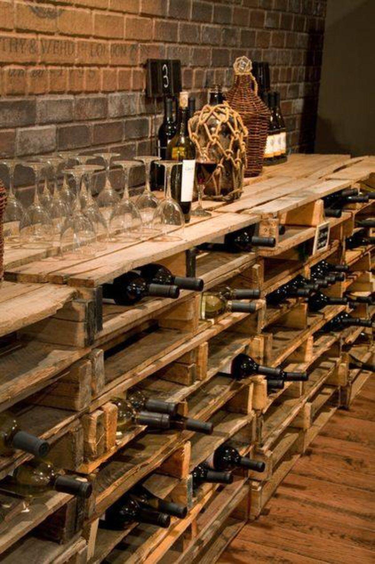 Cave À Vin Palette cave à vin en palettes