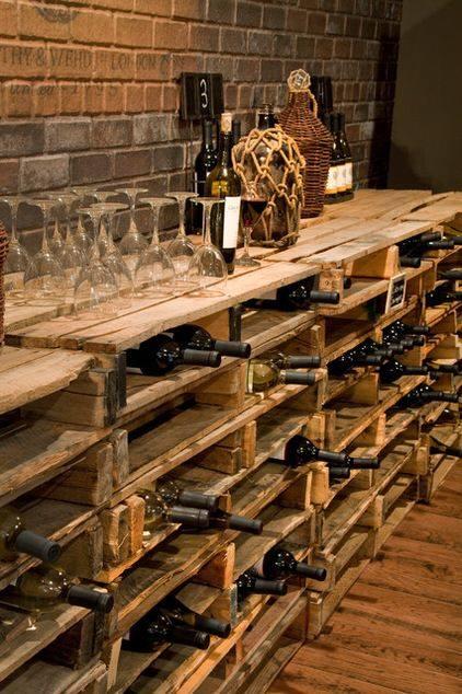 Cave vin en palettes des id es - Fabriquer sa cave a vin ...
