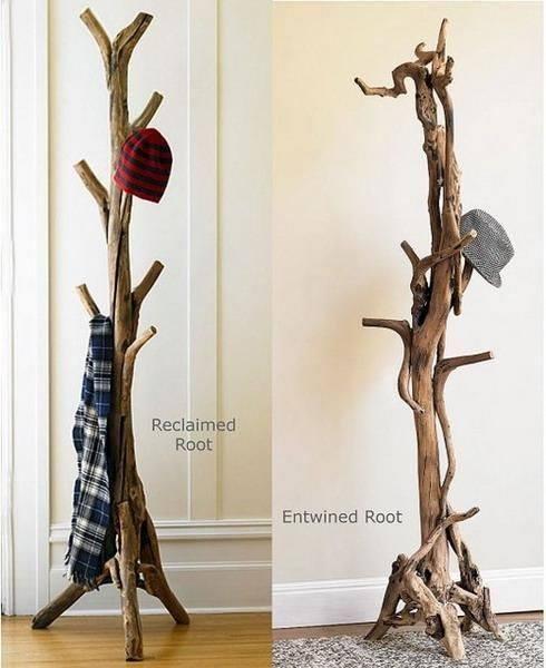 faire un porte manteau avec du bois flott. Black Bedroom Furniture Sets. Home Design Ideas