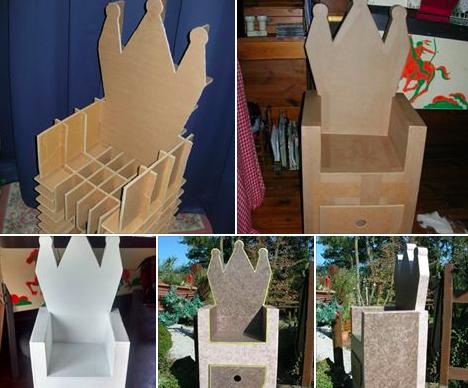 fabriquer un tr ne pour enfant des id es. Black Bedroom Furniture Sets. Home Design Ideas