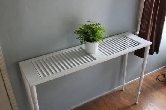Top Réutilisez un vieux volet pour fabriquer une table - Des idées BW26