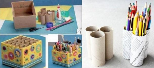 recyclez vos rouleaux de papier toilette en boite crayon. Black Bedroom Furniture Sets. Home Design Ideas