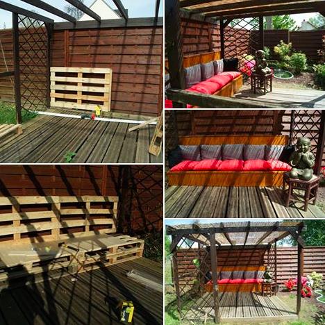 am nager une terrasse abrit e avec quelques palettes des id es. Black Bedroom Furniture Sets. Home Design Ideas