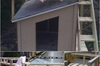 construisez une niche pour chien super originale des id es. Black Bedroom Furniture Sets. Home Design Ideas