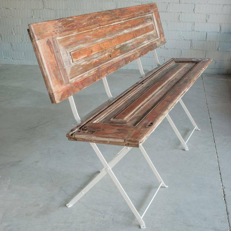 R utilisez vos vieux volets pour en faire un banc des id es - Vieux volet persienne bois ...