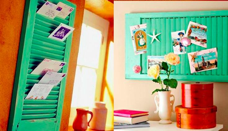 2 id es pour recycler vos vieux volets en objets du quotidien des id es. Black Bedroom Furniture Sets. Home Design Ideas