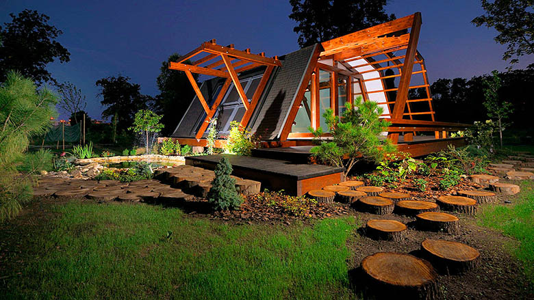 d couvrez la maison cologique futuriste soleta zeroenergy. Black Bedroom Furniture Sets. Home Design Ideas