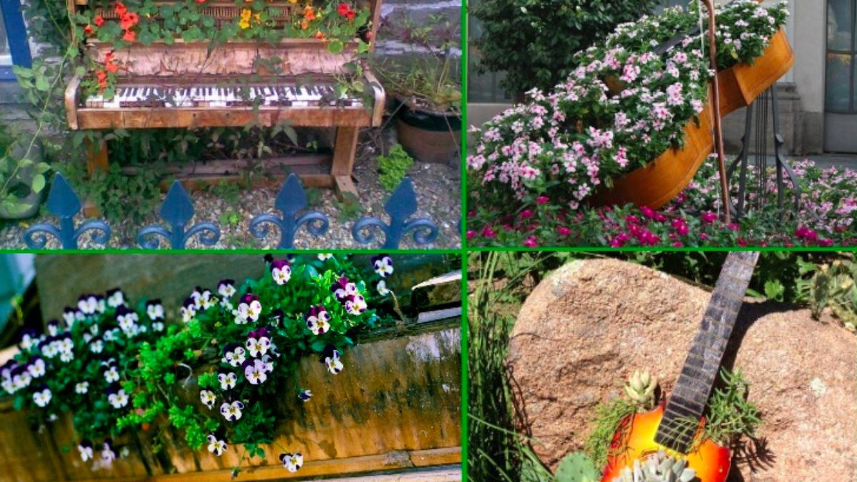 Pot De Fleur Avec Des Pneus 15 id�es pour am�nager votre jardin avec des objets recycl�s