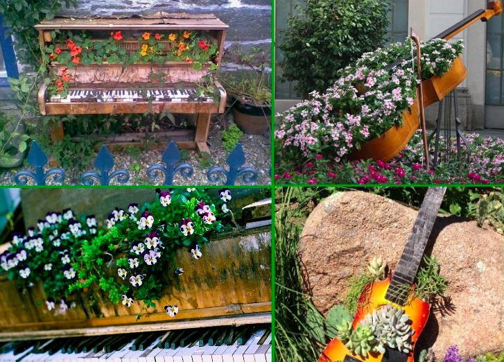 15 idées pour aménager votre jardin avec des objets recyclés - Des idées
