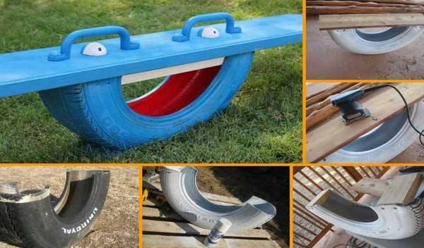 Fabriquer une balan oire avec un vieux pneu des id es - Fabriquer un decolle pneu ...