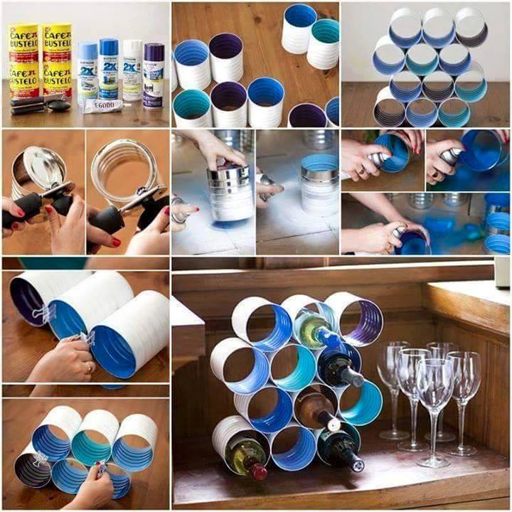 fabriquer un mur de rangement pour vos bouteilles des id es. Black Bedroom Furniture Sets. Home Design Ideas
