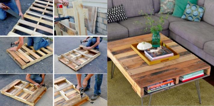 Superior Fabriquer Une Table Basse Avec Une Palette