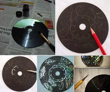 Recyclez vos vieux cd en d co des id es for Decoration murale pour noel