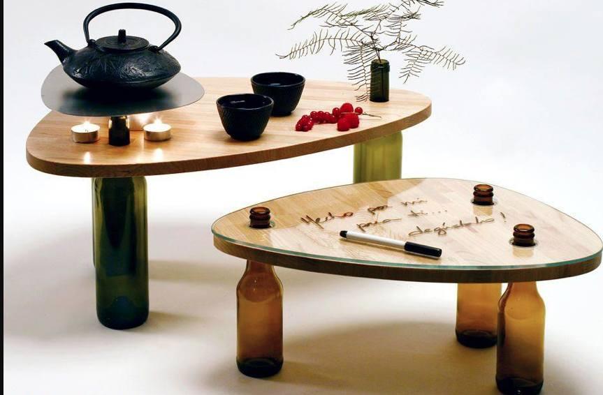 Fabriquer Une Table Basse À L'Aide De Bouteilles De Vin - Des Idées