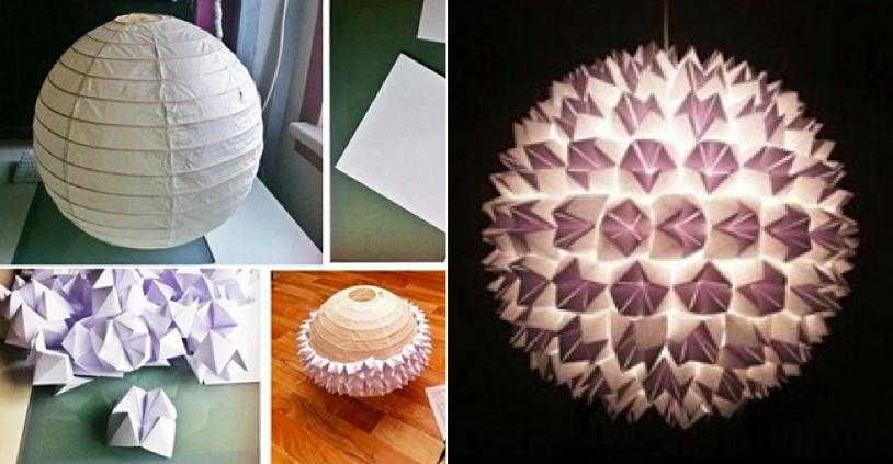Transformez un luminaire avec des cocottes en papiers for Luminaire papier