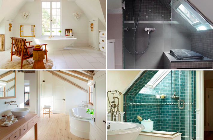 15 id es pour transformer votre grenier en une jolie salle for Salle de bain grenier