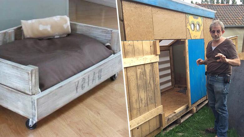 ce couple recycle des palettes pour venir en aide aux sans abri des id es. Black Bedroom Furniture Sets. Home Design Ideas