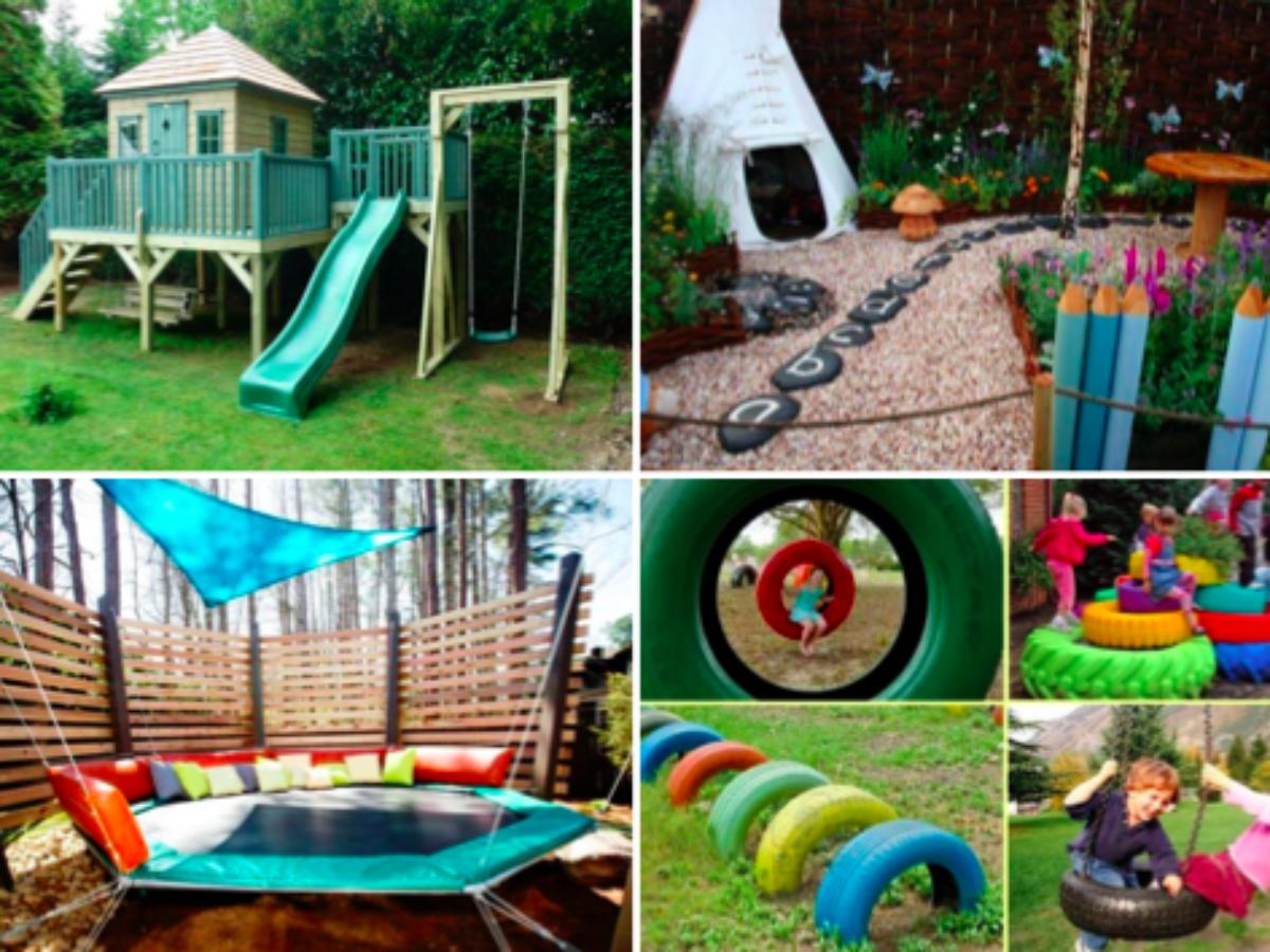 De Belles Idees D Amenagement D Espace De Jeux Dans Le Jardin Pour Les Enfants