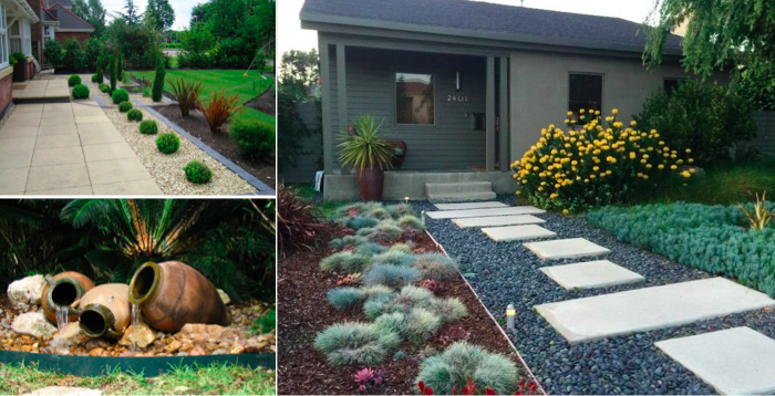petit jardin en faade les plus belles ides damnagement pour votre entre - Belles Entree De Maison