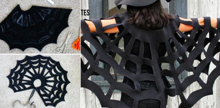 Tuto facile sans couture pour fabriquer une cape en forme - Fabriquer araignee pour halloween ...