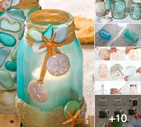 13 id es pour recycler vos bocaux des id es for Objet de decoration interieur