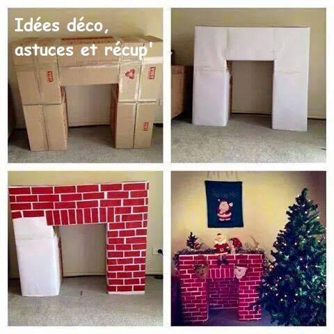 Fabriquer une fausse chemin e pour no l - Idees originales de noel de la chambre a la cheminee ...