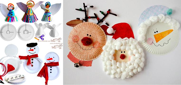 20 bricolages pour enfants avec des assiettes en carton - Decoration de noel a faire avec des enfants ...