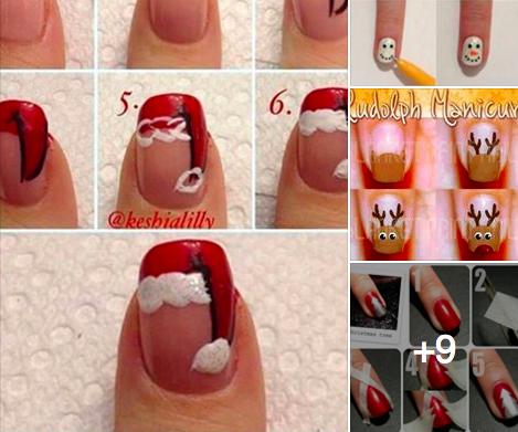 12 tutos nail art pour les f tes des id es - Ongles pour les fetes ...