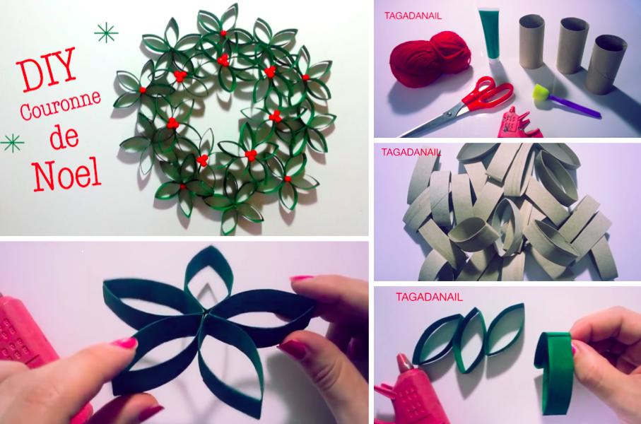 Tuto Réalisez une magnifique couronne de Noël avec des rouleaux de papier  toilette , Des idées