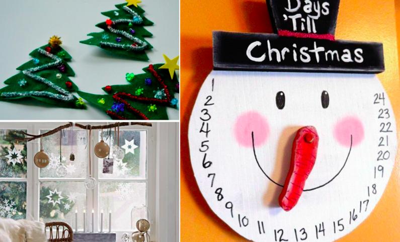 14 bricolages de no l faire avec vos enfants des id es. Black Bedroom Furniture Sets. Home Design Ideas