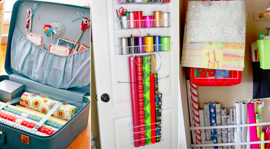 10 Idees Pour Ranger Votre Materiel D Emballage Cadeau Apres Les