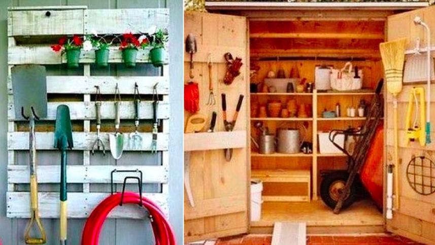 conseils et id es pour ranger vos outils de jardinage. Black Bedroom Furniture Sets. Home Design Ideas