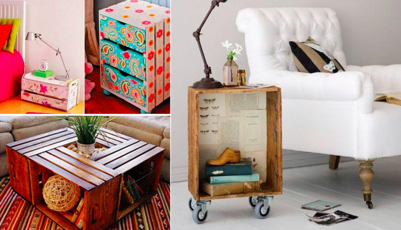40 id es pour recycler vos cagettes des id es. Black Bedroom Furniture Sets. Home Design Ideas