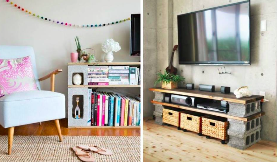 de la d co avec des parpaings 12 id es inspirantes des id es. Black Bedroom Furniture Sets. Home Design Ideas