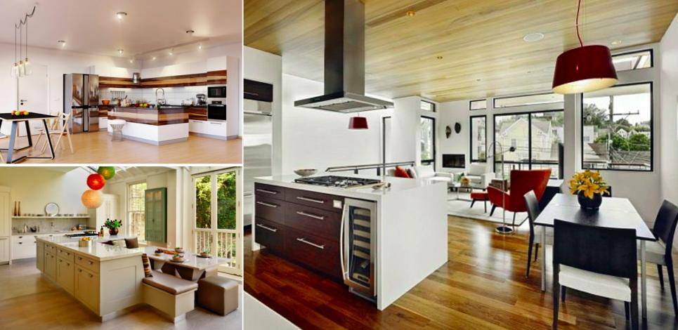 Des cuisines ouvertes modernes et conviviales en 30 for De cuisines conviviales