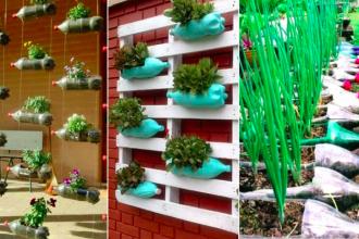 9 id es pour recycler vos bouteilles de plastique en petites jardini res des id es. Black Bedroom Furniture Sets. Home Design Ideas