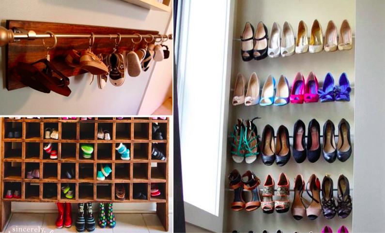 40 solutions pour ranger vos nombreuses paires de for Idee pour ranger les chaussures