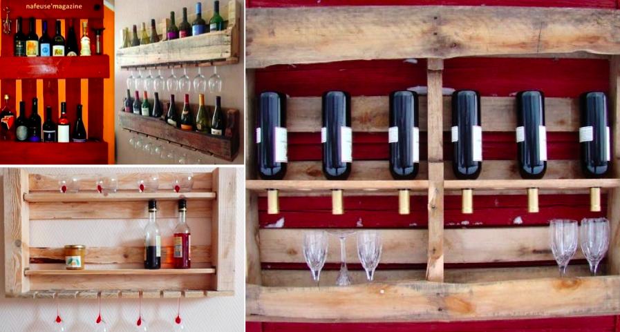 id e d co utilisez une palette pour ranger vos verres et vos bouteilles. Black Bedroom Furniture Sets. Home Design Ideas