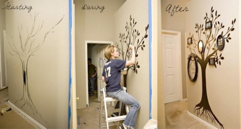 30 id es pour r aliser un magnifique arbre g n alogique d coratif sur un mur ou dans un cadre. Black Bedroom Furniture Sets. Home Design Ideas