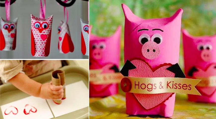 10 bricolages d 39 enfants pour la saint valentin faire avec des rouleaux - Jeux de papier toilette ...