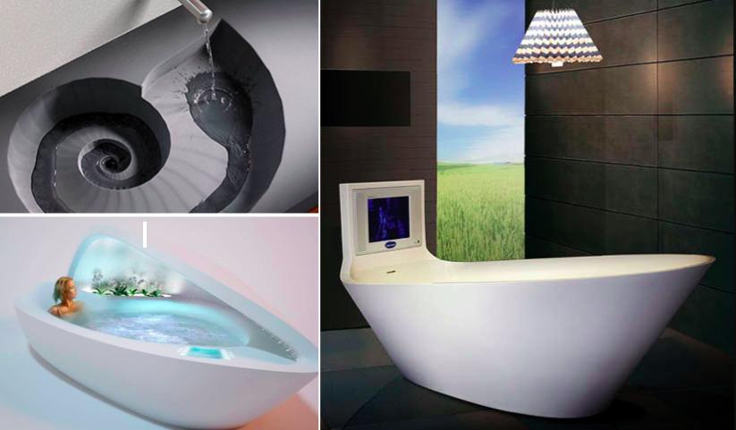 34 d corations de salle de bain futuristes des id es for Synonyme de salle de bain