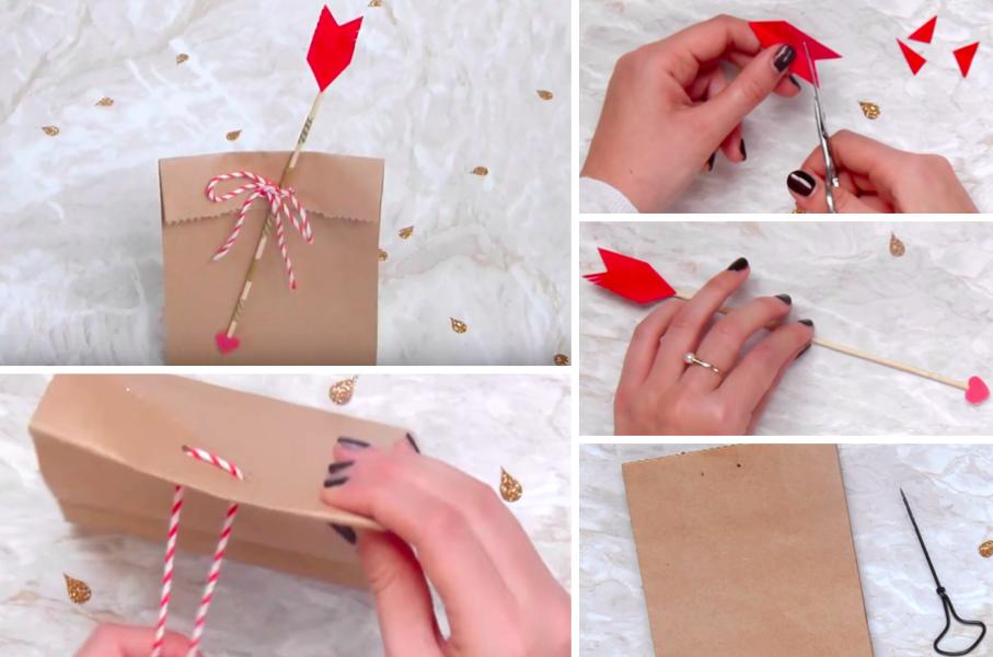 tuto fabriquez un sachet de la saint valentin pour emballer le cadeau de votre ch ri e. Black Bedroom Furniture Sets. Home Design Ideas